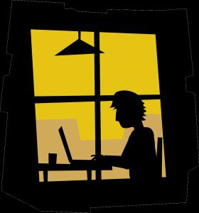 Author Working on Manuscript