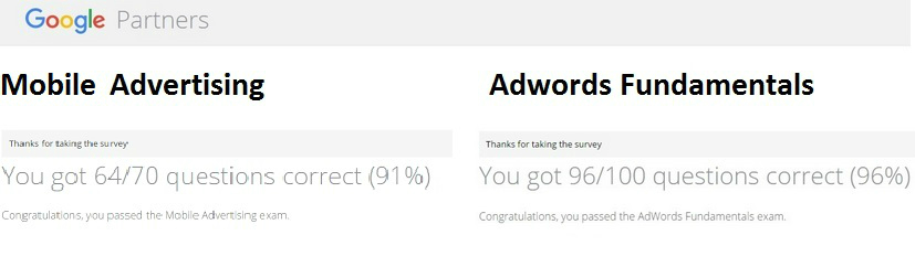 Google Adwords Tests